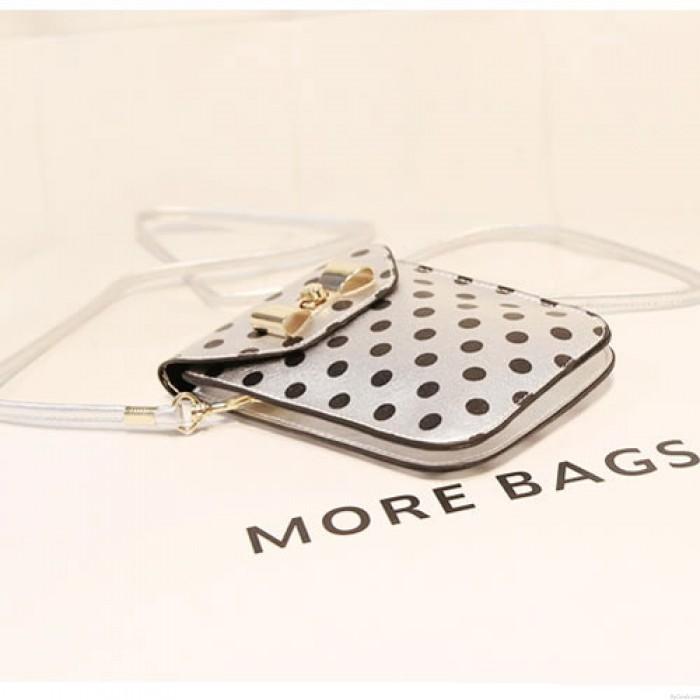 Cute Wave Point Bow Mini Small Bag