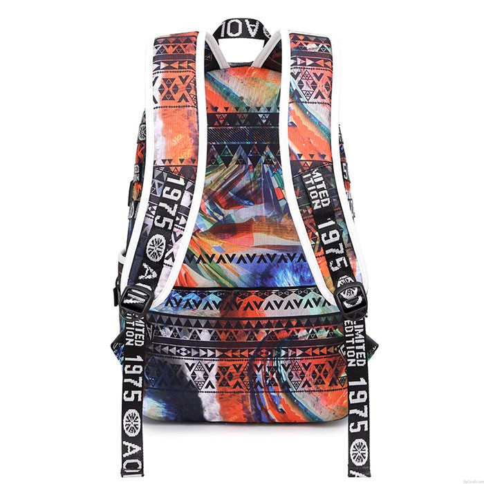 Unique Design Colorful Irregular Shape Large Capacity Waterproof Young Student Backpack