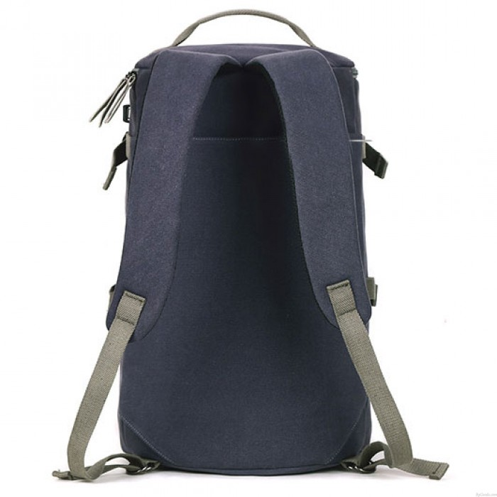 Unique Waterproof Large Capacity Camping Sports Bucket Bag Drum USB Interface School Canvas Travel Backpack