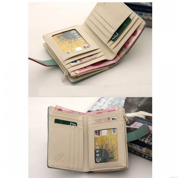 Fashion Cartoon Lady Students Wallet & Clutch Bag
