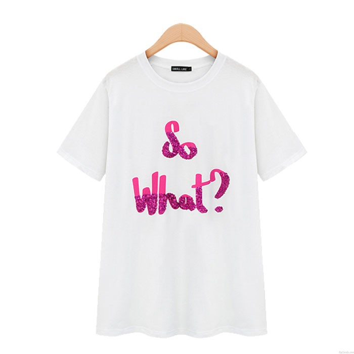 Unique Slim Short-Sleeved So What T-Shirt