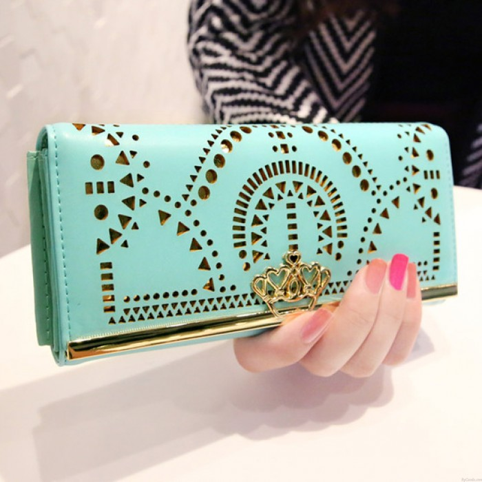 Fashion Geometric Hollow Out  Crown Clutch Bag& Wallet