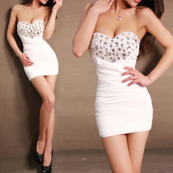 Sexy Bodycon Rhinestone Dress Party Dress