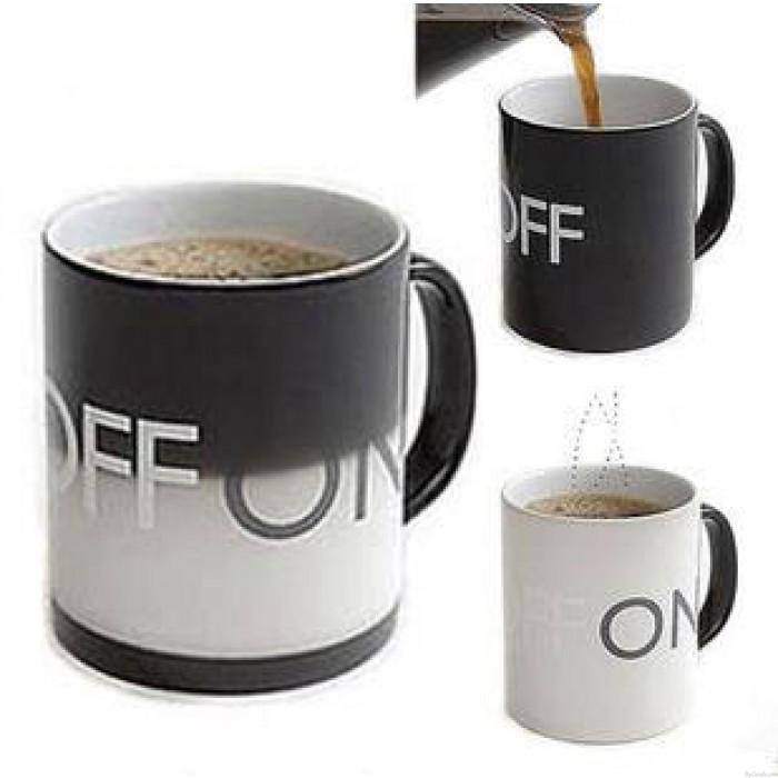 Temperature Sensing Ceramic Cup Personality Switch Milk Cup