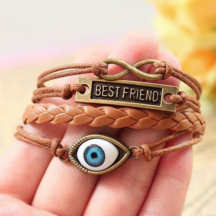Best Friend Eye Infinity Rope Bracelet