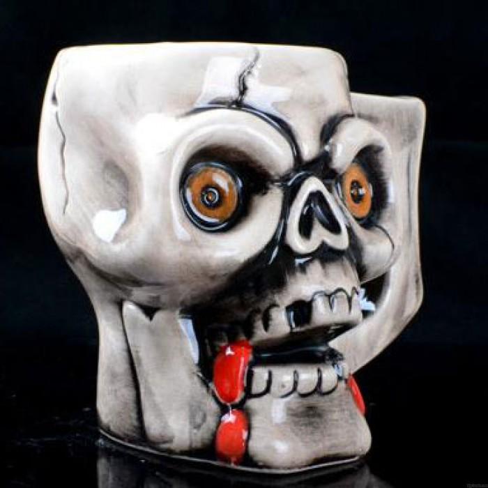 Personalized Pirate Skull Half Handmade Ceramic Cup