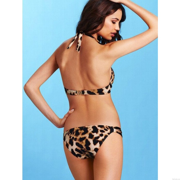 Sexy Leopard Diamond Sling Bikinis