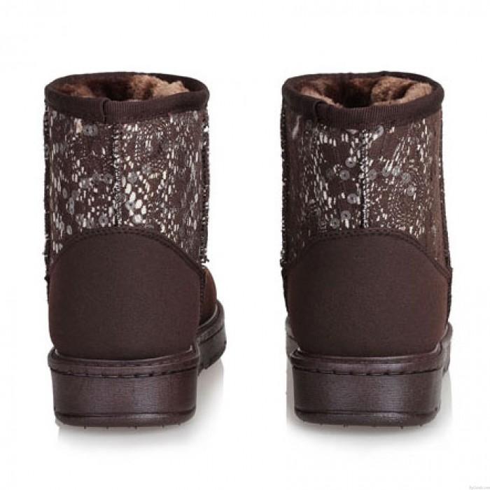 Sequin Waterproof Women Cotton Snow Boots