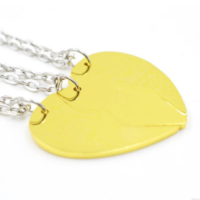 Division Heart BEST BITCHES Pendant 18K Gilded Girlfriends Necklaces