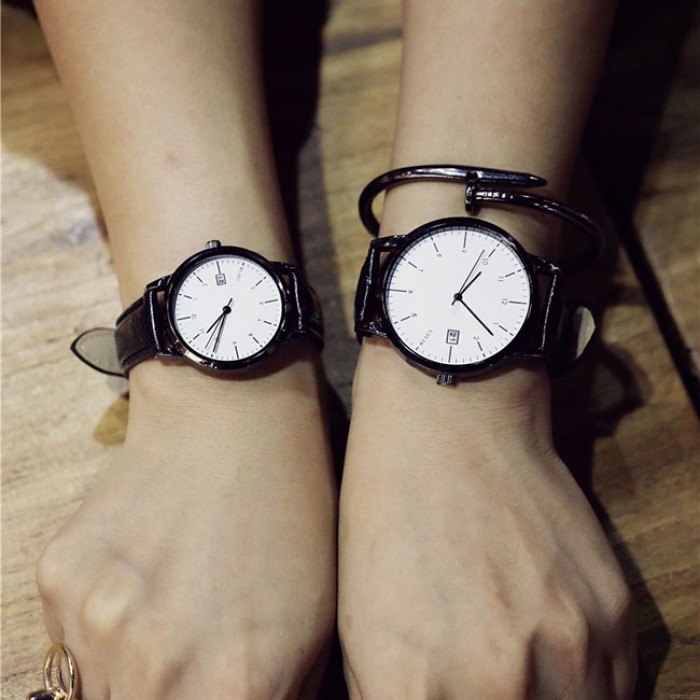 Leisure Women Retro Simple Couple Student Big Dial Watch