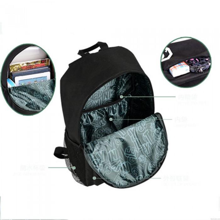 College Boys Noctilucent Devil Captain America Backpack Girls Schoolbag