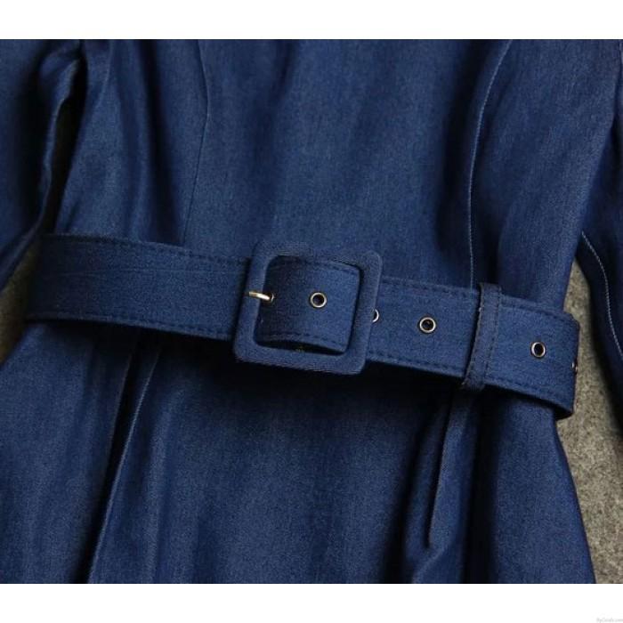 High-end Elegant Demin Fabric Dress