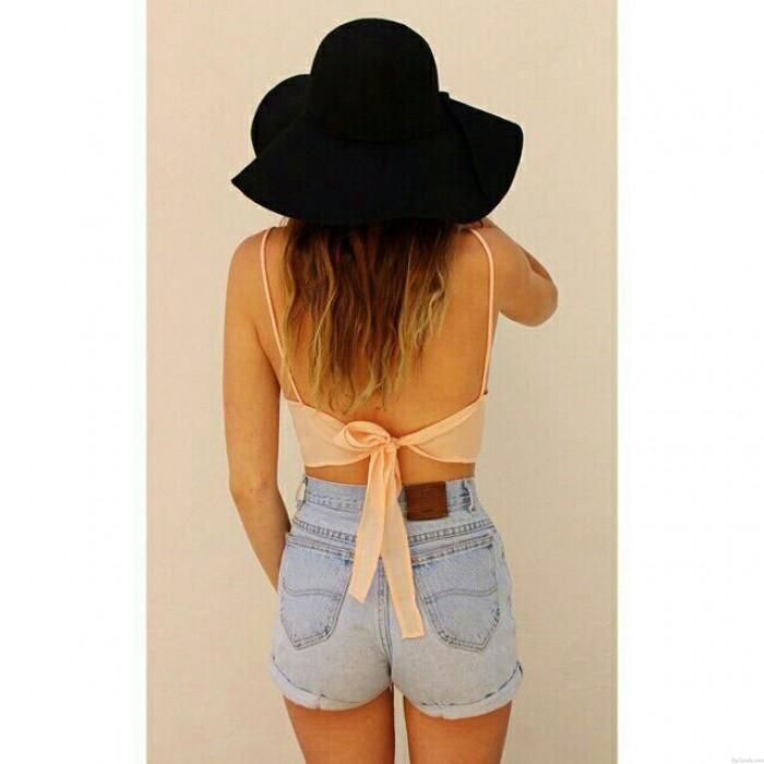 Summer Back Strap Sexy Halter Vest