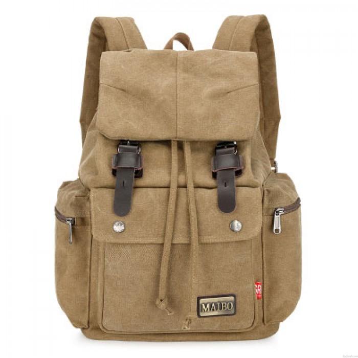 Leisure School Camping Student Rucksack Men's Travel Bag Large Canvas Backpack
