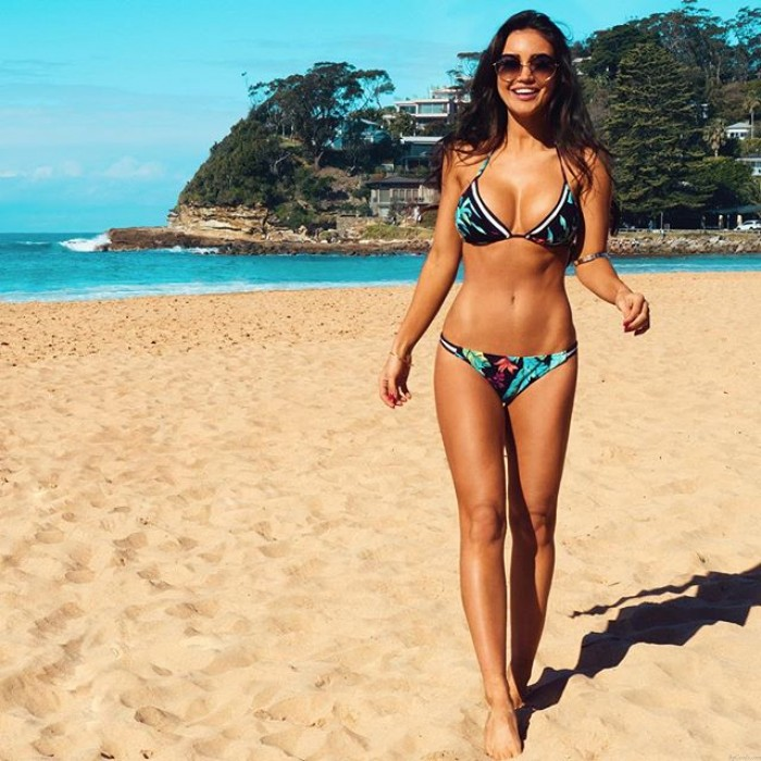 Maple Leaves Bikini Halter Triangle Swimsuits Bikini Set