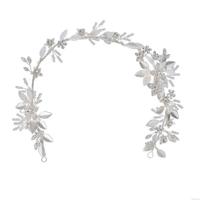 Fresh Bridal Crystal Hair Accessories Flower Pearl Wedding Hair Band Hairpin Accessories