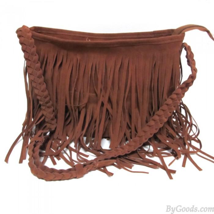 Fashion Tassel Celebrity Shoulder Messenger Cross Body Bag Tote Handbag