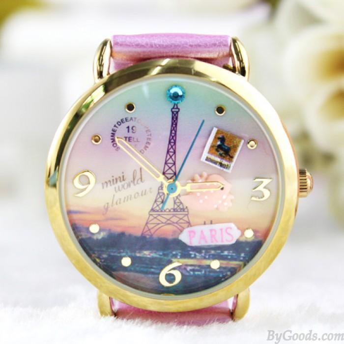 Belle Princesse Tour Eiffel Polymère Argile Regardez