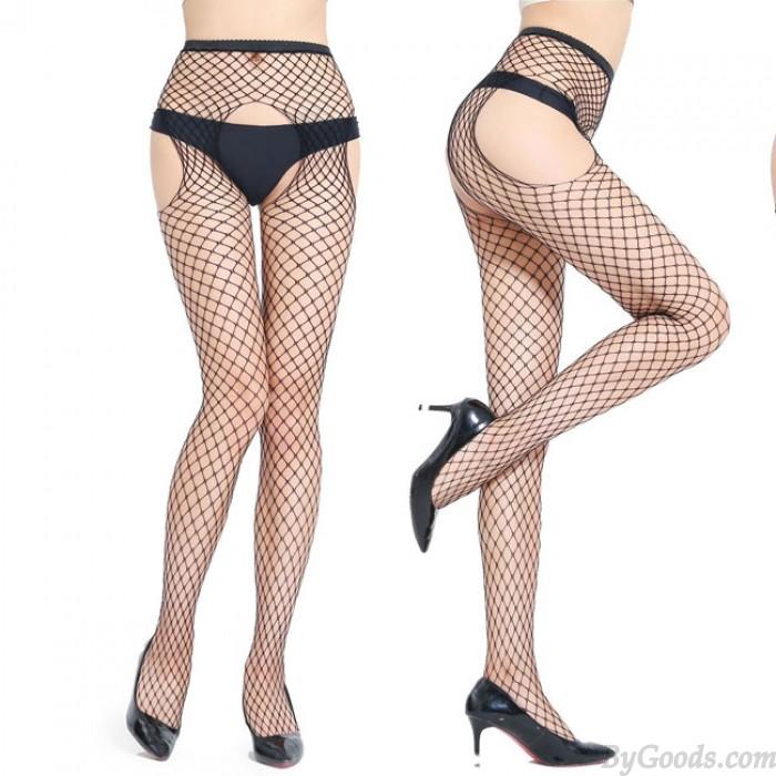 Bas Collants Ouvert Sexy Lingerie Chaussettes Résille Bas Femme
