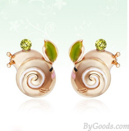 Boucles d'oreilles mignon escargot animal strass Anniversaire
