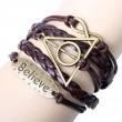 Believe Deathly Hallows Infinity Bracelet