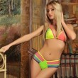 Sexy Colorful Beachwear Multi Rope Bikini Swimwear