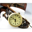 Rope winding strap elegant ladies leather hand rope Watch