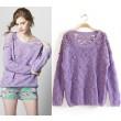 New Sweet Lace Crochet Wool Ball Sweater &Knitting
