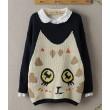 New Style Cute Eyes Cat Wool Sweater&Cardigan