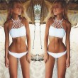 Sexy Swimwear Mesh Crochet Bikini Swimsuit Beach Bathing Suit