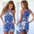 Folk Style Totem Printing Braces One Piece Jumpsuit&Romper