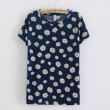Small Chrysanthemum  Short Sleeved Cotton T-shirt