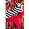 Navy Style Stripe Fresh Lace Sexy Bikini