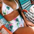 Flowers and Leaves Bikini Set Beach Swimwear Swimsuit Bathingsuit
