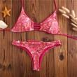 Cashew Nuts Print Bikini Retro Double-sided Triangle Swimsuits Bikini Set