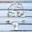 Padded Bra Bikini Set Brid Printing Swimsuit Wonmen Swimwear