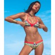 Folk Red Swimsuit Sexy Bikini Swimwear Bathing Suit