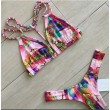 Unique City Oil Painting Gradient Color Bikini Swimsuit