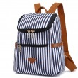 Loisir Rayures verticales Étudiant sac à dos d'été toile rayure école sacs à dos