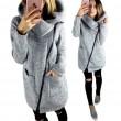 Pulls à capuche unisexe sweat-shirts femme zippés tops vestes manteau manches longues