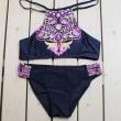 Maillot de bain en bikini à imprimé abstrait hibou