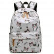 Dessin animé mignon oiseau cheval chat tête de chien grand toile sac à dos de l'école animale