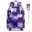 Cool ciel étoilé espace imperméable grand sac à dos sac à dos lycée Oxford nébuleuse galaxie Oxford
