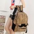 Moustache Fashion Style avec imprimé léopard Sac à dos