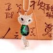 Mignon Mode Cristal Renard faux diamant Chandail Collier