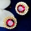 Pétillant Grand faux diamant Cristal Boucles d'oreilles