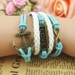 Retro Anchor Love Infinity Weave Bracelet