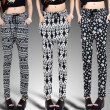 Skull Geometric Harem Hip-hop Pants/Leggings