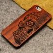 Squelettes OS Une fleur Totem bois brut Mince Cas Pour Iphone 5 / 5S / 6 / 6Plus