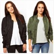 Des femmes Bombardier Veste De base Veste Motard Outwear L'hiver Manteau